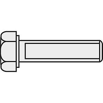 TOOLCRAFT 222530 hexagonale vis M1.6 10 mm Hex tête DIN 933 laiton nickelé de 10 PC (s)