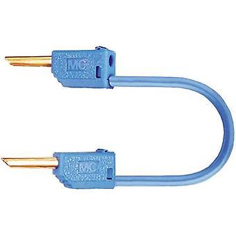 Stäubli LK2-F 60cm bl Testbly [Banandonkraft 2 mm - Banandonkraft 2 mm] 0,60 m Blå