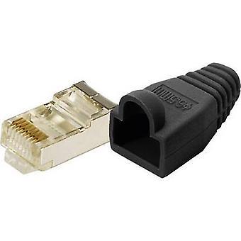 LogiLink MP0012 Plug CAT 5E beschermen gele 8P8C RJ45 stekker, rechte zwart