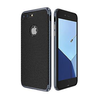 Cobrir de silicone híbrido caso de pele de silicone para saco de 8 capa case iPhone Apple azul