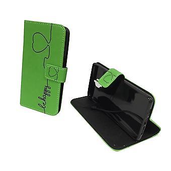 Handyhülle Tasche für Handy OnePlus 3 / Three Be Happy Grün