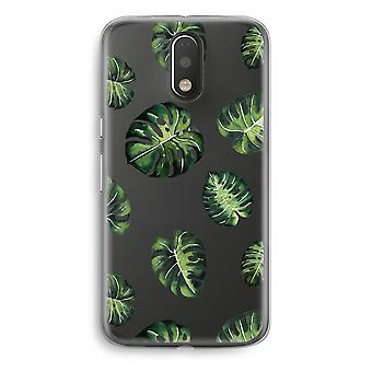 Motorola Moto G4/G4 Plus Transparent fodral (Soft) - tropiska löv