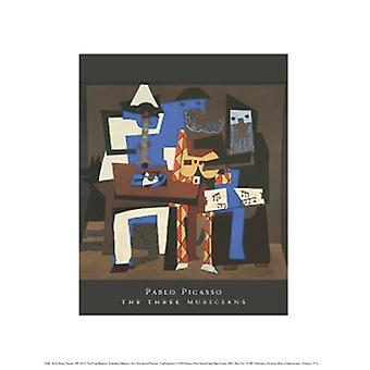 The Three Musicians Poster Print by Pablo Picasso (11 x 14)