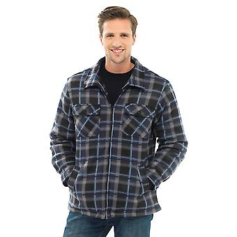 Storm Ridge Mens Polar Fleece Checkered Long Sleeve Shirt