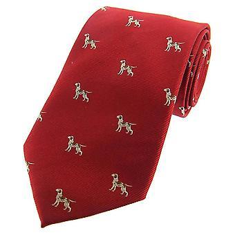 David Van Hagen Pointer hunde vævet land silke slips - rød