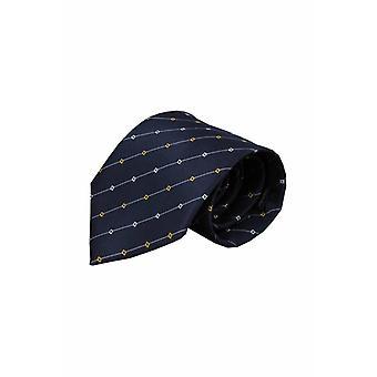 Blauwe zijden stropdas Iseo 01