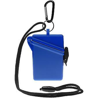 Witz Surfsafe lichtgewicht waterdichte Sport Case w / Lanyard & Carabiner - blauw