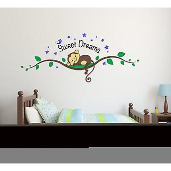 Full Colour Sweet Dreams schattig Monkey muur Sticker