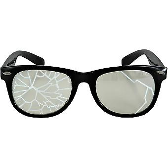 Glasses Broken Blk/Clr - 15301