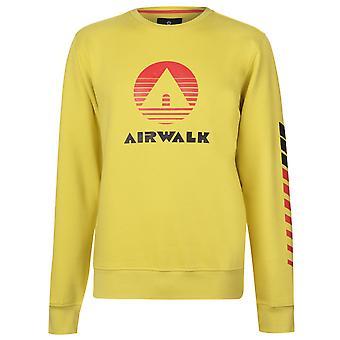Airwalk Mens Retro Jersey cuello redondo camiseta Tee Top