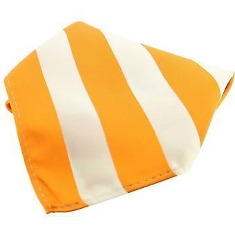 David Van Hagen Polyester Einstecktuch - Orange/weiß gestreift