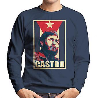 Castro Propaganda Poster camisola homens