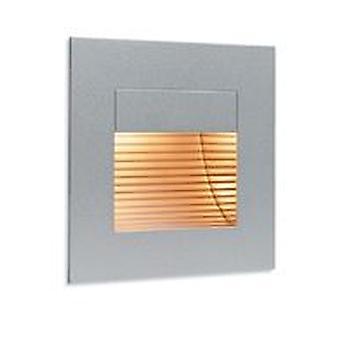 Firstlight-1 luz interior de pared y luz de paso de acero satinado, cubierta de vidrio de salida-1132SS