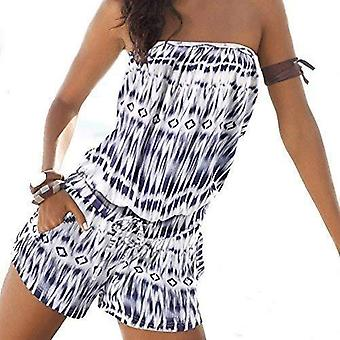 Women's womens playsuit backless summer strapless jumpsuits