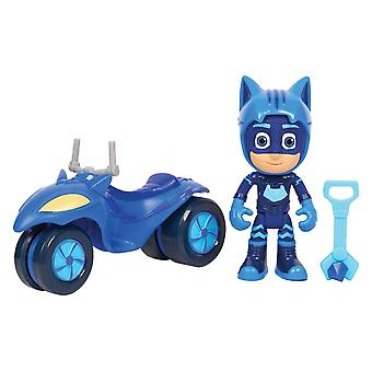 PJ Masks Super Moon Space Rover & Catboy Figure Toy