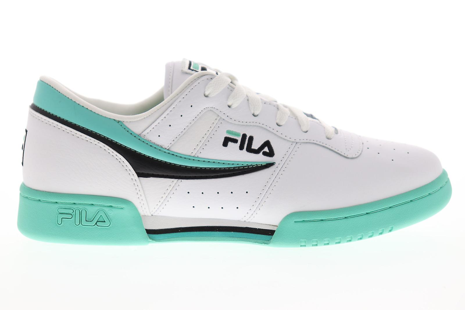 Fila original fitness menns hvit casual lav topp joggesko sko