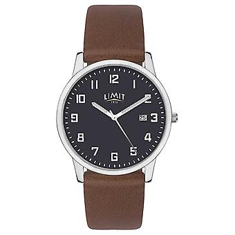 Limit | Mens Brown Leather Strap | Blue Dial | 5743.01 Watch