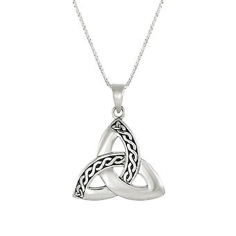 Eternal Collection Trinity Celtic Knot Sterling Silver Pendant Necklace