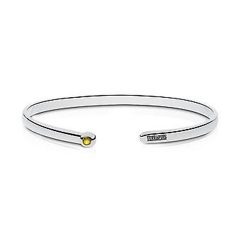 University of Maryland graviert Sterling Silber gelb Saphir Manschette Armband