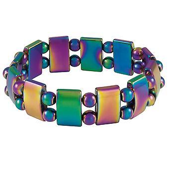 Ewige Sammlung Chemie Rainbow Hämatit Perlen Armband Stretch
