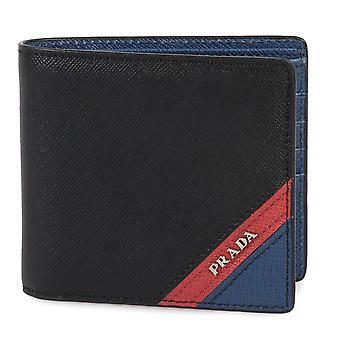 Prada Black Saffiano Leather Wallet With Intarsia 2MO513 2EGO F0UDN