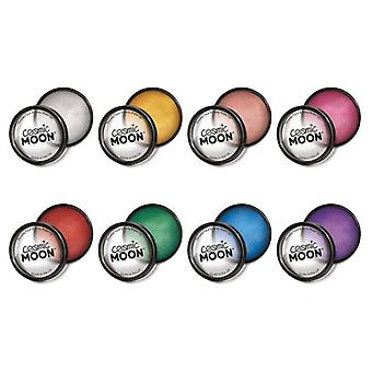 Cosmic Moon - Metallic Pro Face & Body Paint Cake Pots - Set of 8