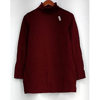 Liz Claiborne York Top Essentials Turtleneck Knit Henna Red A270612