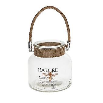 Natur Jar und Kerze Halter Wespe
