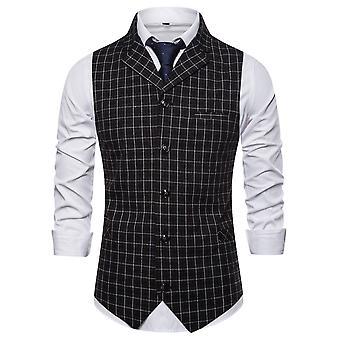 Allthemen miesten ' s ruudullinen yksirivinen yksinkertainen muoti Business rento puku liivi