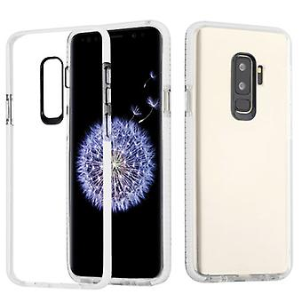 Transparante Clear/witte bumper stevige Candy Skin cover voor Galaxy S9 plus