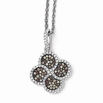 925 το εξαιρετικό ασήμι στρώνει το καφετί ρόδιο κάλυψε την περάτωση νύχι αστακών και το CZ κυβικό Zirconia μιμούμενο διαμάντι λαμπρό ανάγλυφο