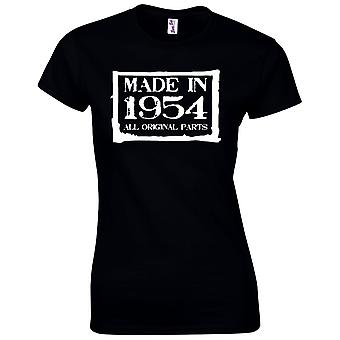 65 års fødselsdag gaver til kvinder hende lavet i 1954 T-shirt