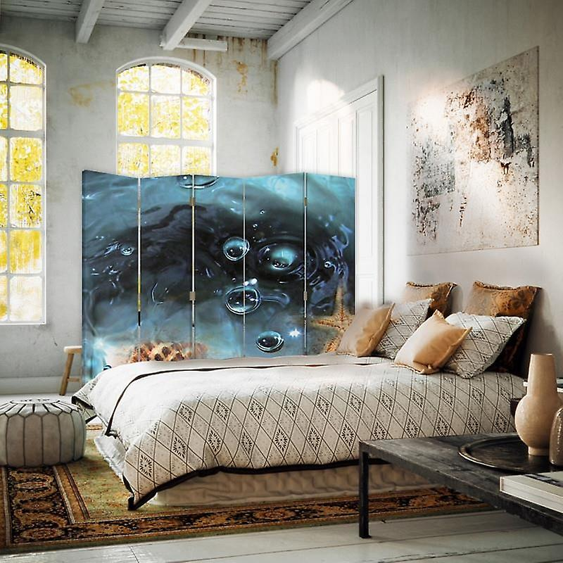 Room Divider, 5 panneaux, Double-Sided, Rotatable 360 ?? Canvas, Starfish
