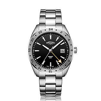Rotary GB05295-04 Hombres's Henley GMT Reloj de pulsera