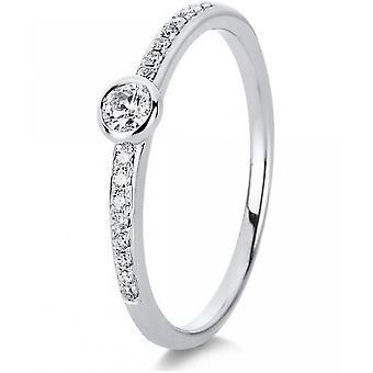 Diamantring ring-18K 750 hvidguld-0,16 CT.