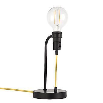 Endon Studio 1 Licht Tisch Leuchte Matt Schwarz 79383