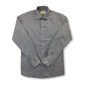 Eton contemporary fit hirt in white/blue/brown check