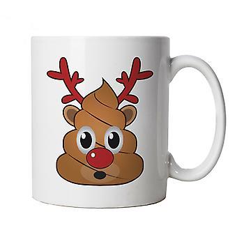 Reindeer Poop Emoji, Mug - Christmas Funny Cup Gift