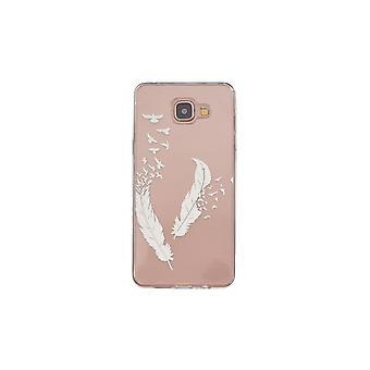 Coque Pour Samsung Galaxy A5 (2016) Transparente Souple Motif Plume Et Oiseaux Blancs