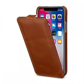Case For IPhone Xs / X Ultraslim Cognac In True Leather