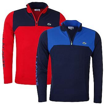 Lacoste Mens Aspirational Stand Up Neck Golf Pullover