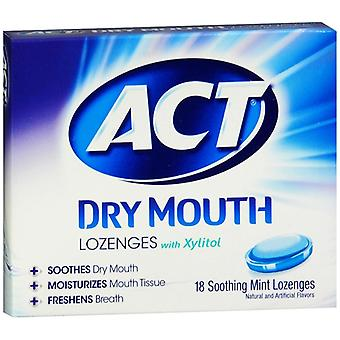 Act total care dry mouth lozenges, mint, 18 ea