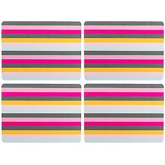 Naviger til Gardenia sett med 4 kuvertbrikker, stripe