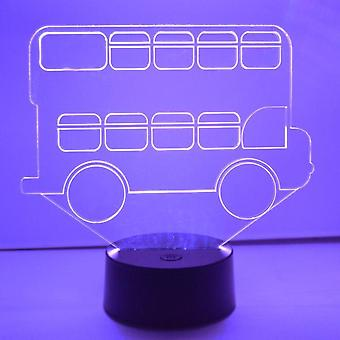 Dubbeldäckare buss LED Colour Changing akryl ljus