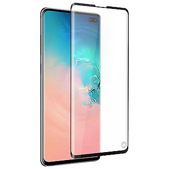 Force Glass Samsung Galaxy S10 Plus Tempered Glass Screen Black Life Gegarandeerd