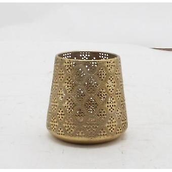 Lantern Gold metal 13 cm