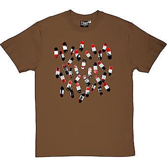 Fine Time (Rood, Wit en Zwart) Kastanje Men's T-shirt