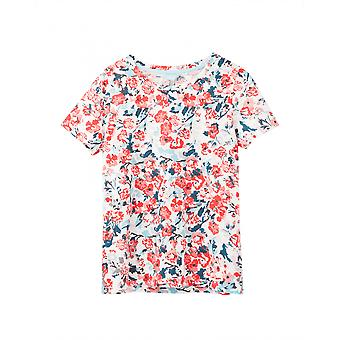 Joules Carley Print Womens Classic Crew With Chain Stitch Detail - Cream Floral