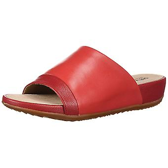 SoftWalk Womens Del Mar Leather Open Toe Casual Slide Sandals