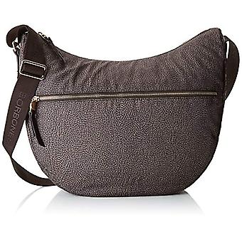 Borbonese 934371296 Brown Woman Shoulder Bag (Tundra/Moro Head) 35x38x15 cm (W x H x L)
